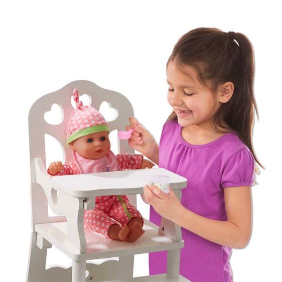 Melissa and Doug Wooden Doll High Chair - Melissa and Doug