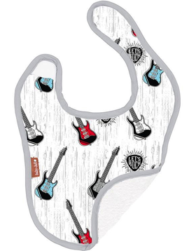 Baby JaR Reversible Bib - Guitars - Baby JaR