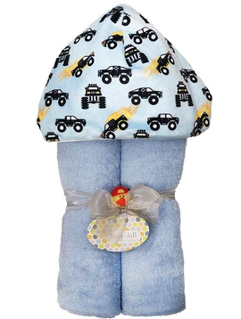 Baby JaR Deluxe Hooded Towel - Monster Trucks - Baby JaR