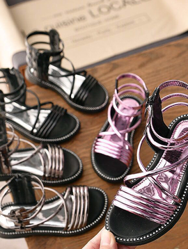 Survolte Patent Gladiator Sandal - Kids Shoes