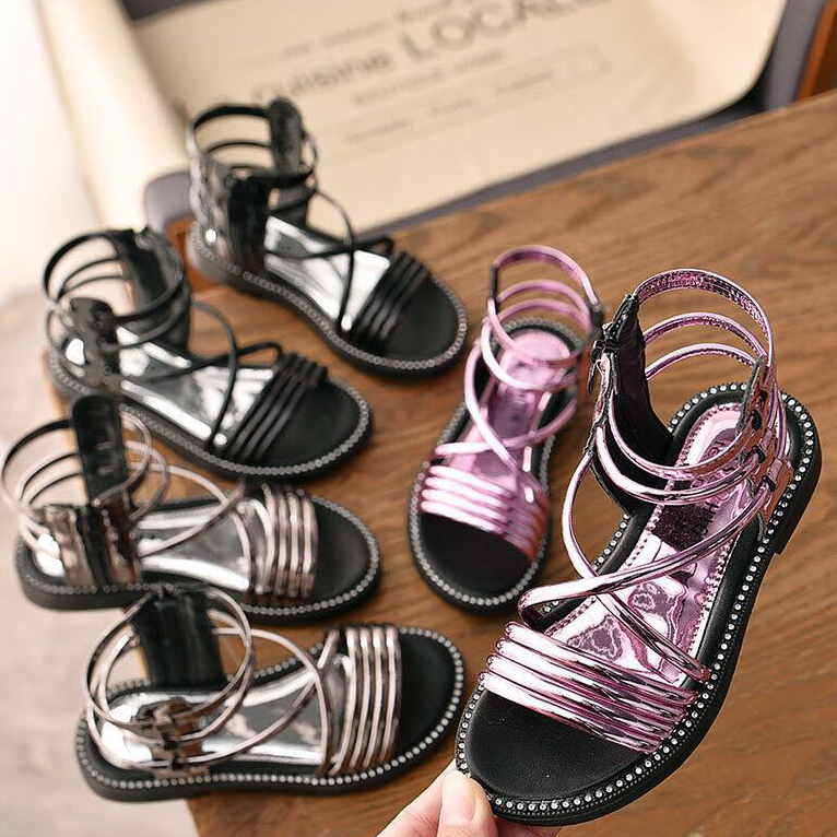 Survolte Patent Gladiator Sandal - Kids Shoes