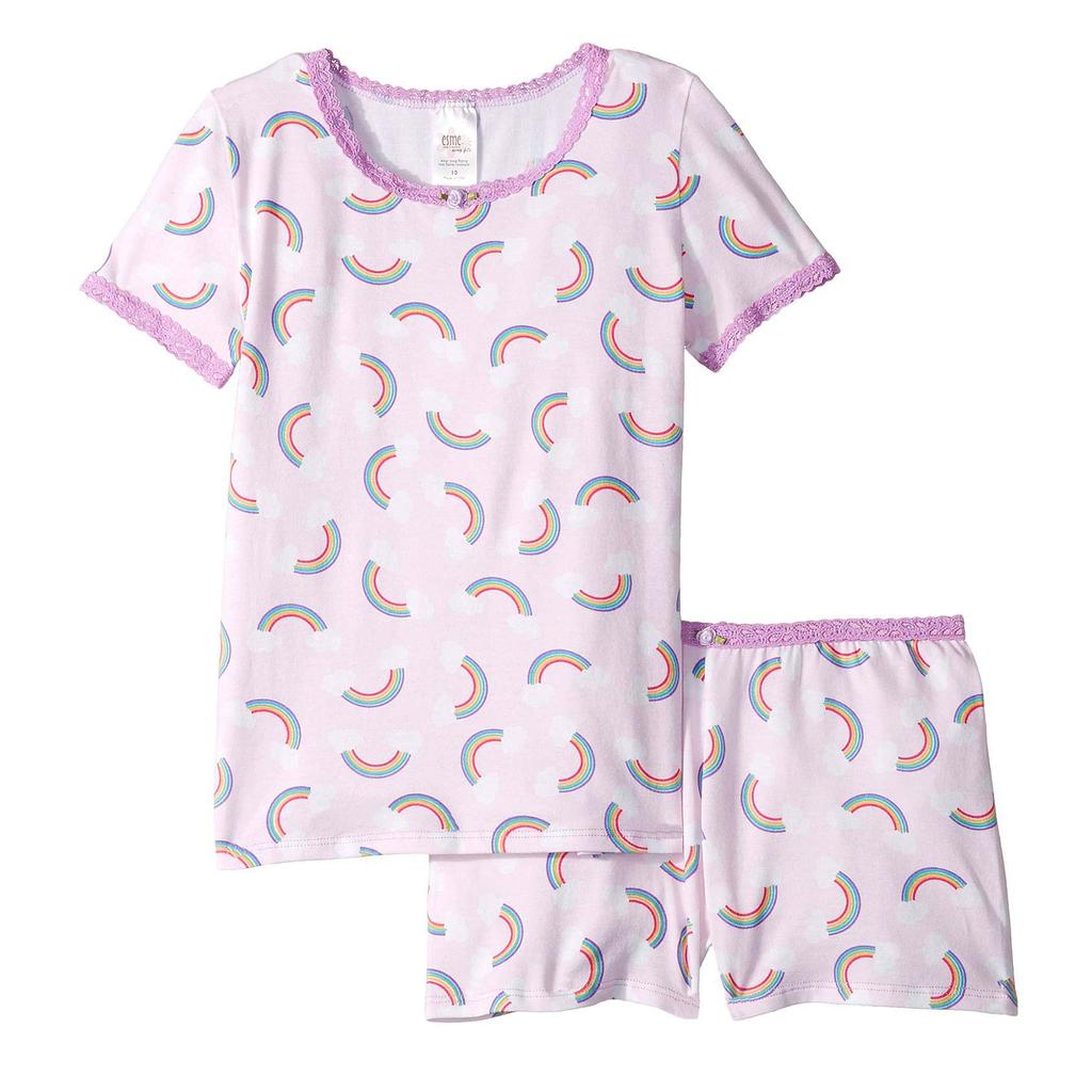 Esme Loungewear Rainbow Short Sleeve Set - Esme Loungewear