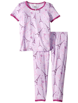 Esme Loungewear Paris Short Sleeve Set - Esme Loungewear