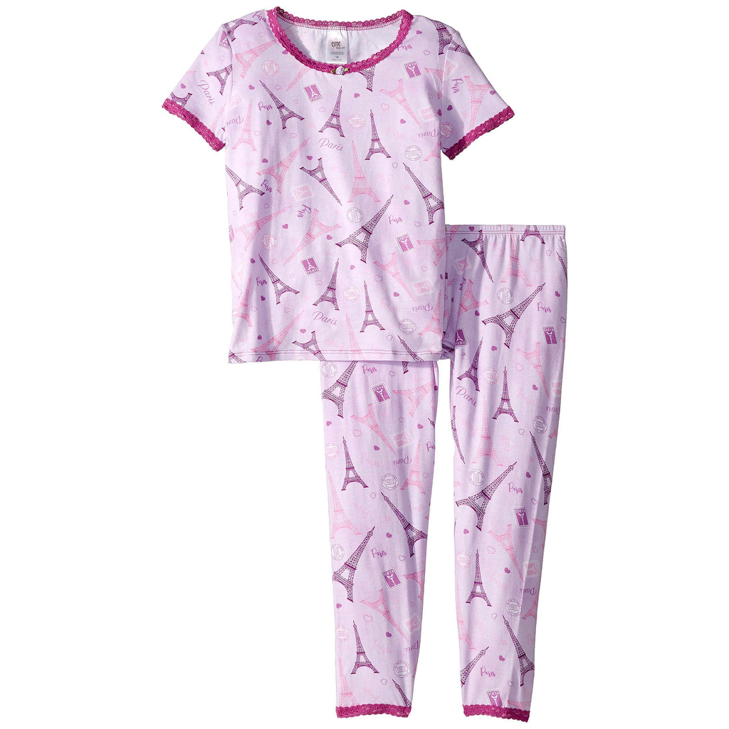Esme Loungewear Paris Short Sleeve Set - Esme Loungewear