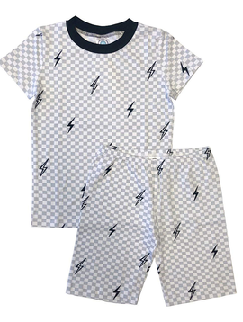 Esme Loungewear Boys Short Sleeve Set - Bolts - Esme Loungewear
