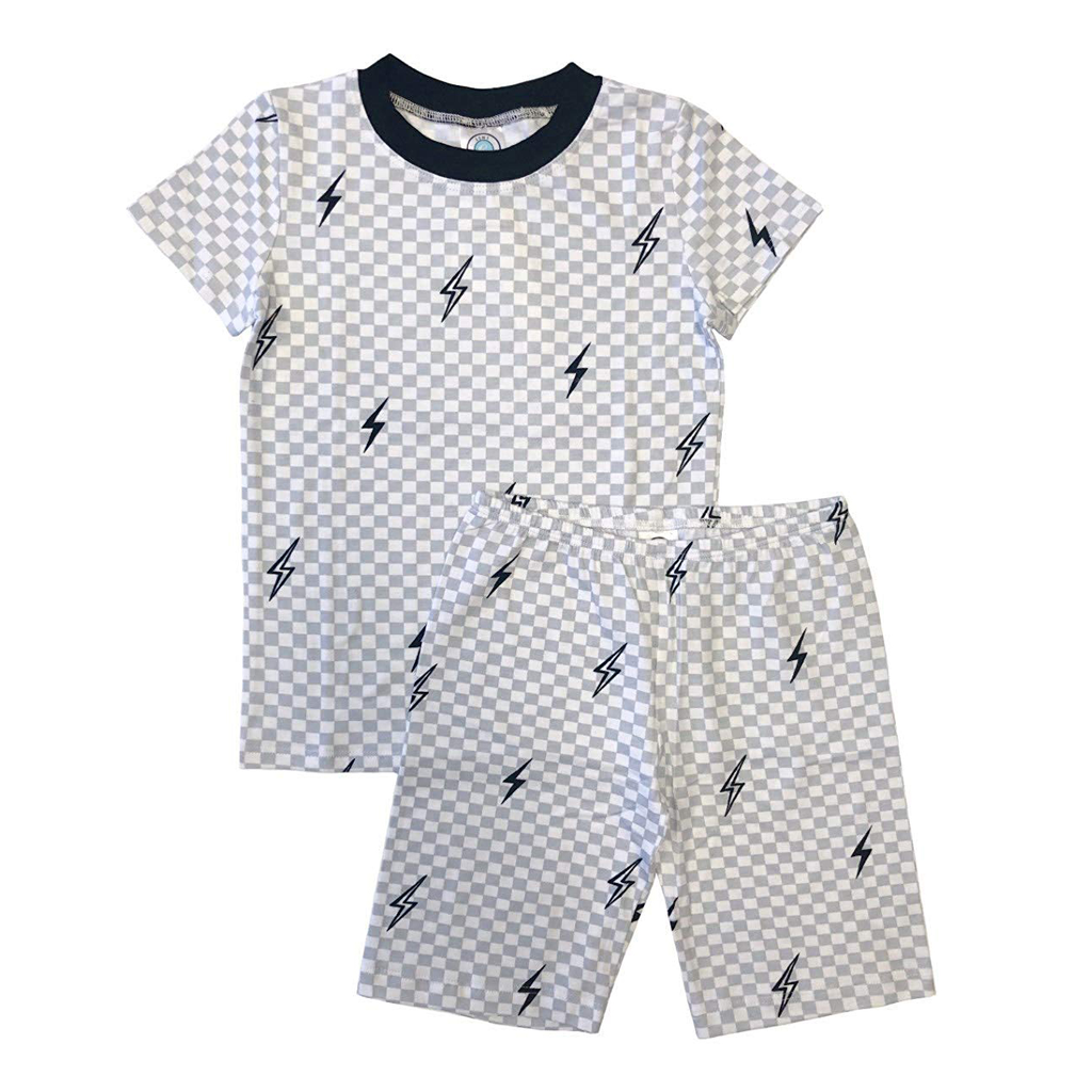 Esme Loungewear Boys Short Sleeve Set - Bolts - Esme Loungewear