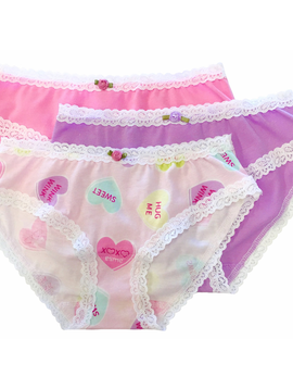 Esme Loungewear Panty 3-pack - Candy Hearts - Esme Loungewear