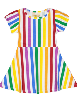 Hugo Loves Tiki Skater Dress - Rainbow Stripe - Hugo Loves Tiki