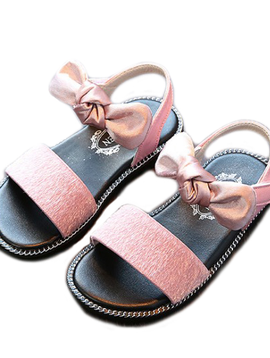 Survolte Pink Sandals w Bow