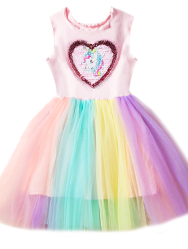 Survolte Unicorn Rainbow Tulle Dress