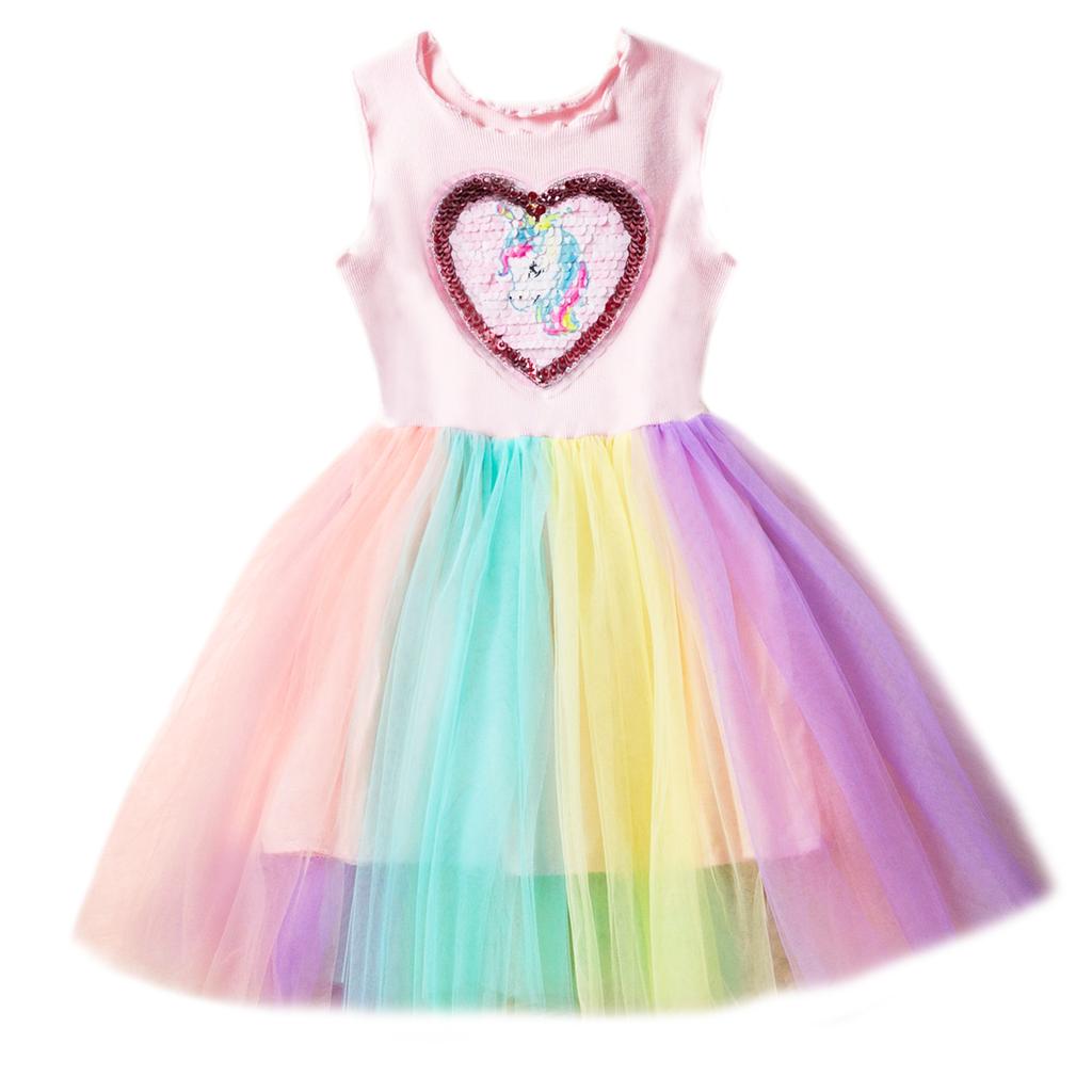 75c1c75c43bb Survolte Unicorn Rainbow Tulle Dress - Pumpkin and Bean