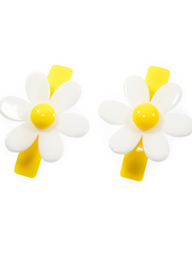 Lilies and Roses Alligator Clip - Yellow Daisy - Lilies and Roses NY