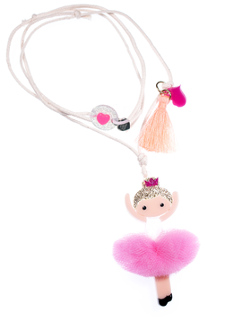 Lilies and Roses Pink Ballerina Necklace - Lilies and Roses