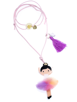Lilies and Roses Rainbow Ballerina Necklace - Lilies and Roses