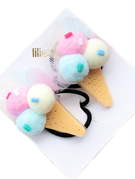 Lilies and Roses Ponytail - Pompom Ice Cream - Lilies and Roses