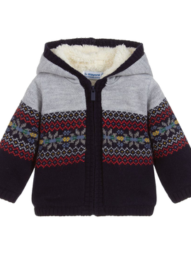 Mayoral Baby Knit Zip Sweater Jacket - Mayoral Clothing
