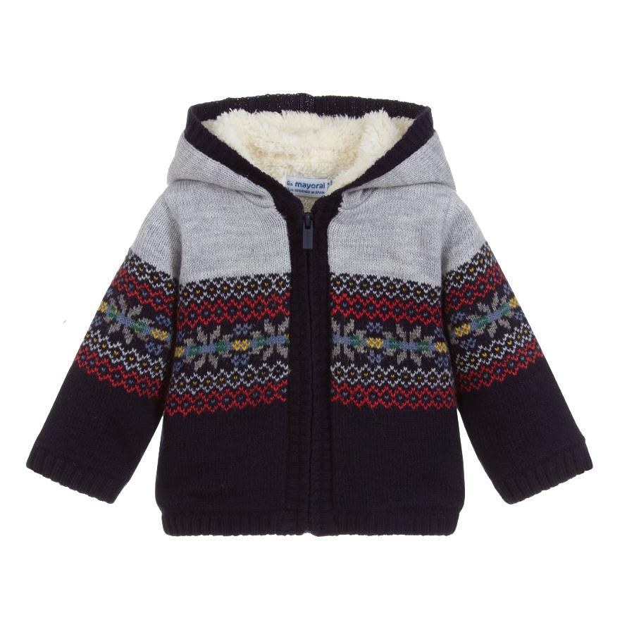 Mayoral Baby Knit Zip Sweater Jacket - Mayoral Clothing