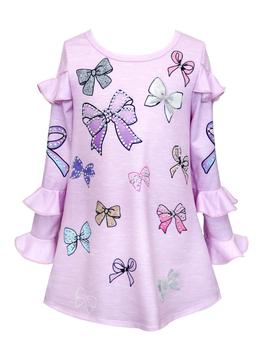 Sara Sara Sara Sara Pink Multi Bow Dress