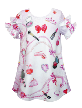 Sara Sara Princess Beauty Print Dress - Sara Sara