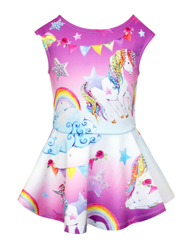 Sara Sara Unicorn Print Dress - Sara Sara
