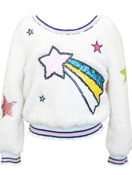 Sara Sara Fuzzy Sequin Sweater - Sara Sara