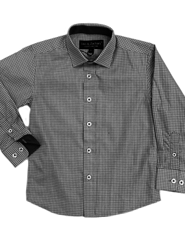 Leo & Zachary Dress Shirt - Steel Tattersall - Leo and Zachary