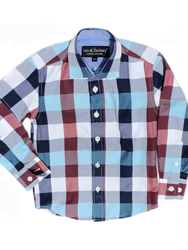 Leo & Zachary Dress Shirt - Mix Plaid - Leo and Zachary