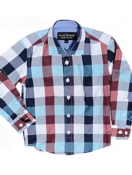 Leo & Zachary Mix Plaid Dress Shirt Leo and Zachary