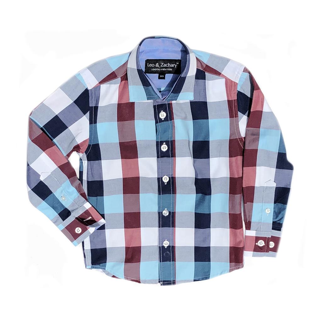 Leo & Zachary Dress Shirt - Mix Plaid - Leo and Zachary