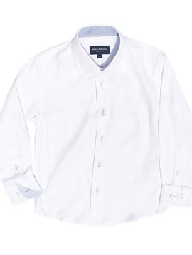 Leo & Zachary White Pique Dress Shirt Leo and Zachary