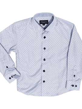 Leo & Zachary Dress Shirt - Slate Quarter Foil - Leo and Zachary