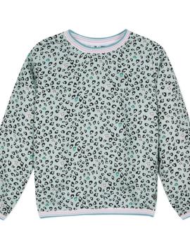 3pommes & B-Karo Mint Leopard Viscose Top - 3Pommes Kids