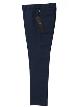 Leo & Zachary Slim Dress Pant - Ink Blue Graph - Leo and Zachary