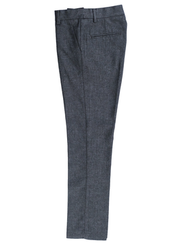 Leo & Zachary Slim Dress Pant - Wool Feel Charcoal - Leo and Zachary