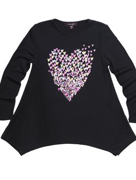 Imoga Amber Tunic - Heart Black - Imoga Clothing