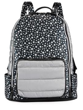 Bari Lynn Scattered Star Backpack - Black/ Silver - Bari Lynn Accessories