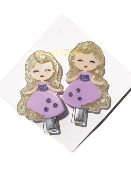 Lilies and Roses Alligator - Princess Doll Purple Dress - Lilies and Roses NY