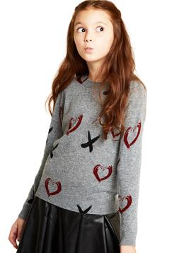 Autumn Cashmere Hugs and Kisses Sweater - Autumn Cashmere Kids