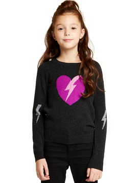 Autumn Cashmere Lightning Heart Sweater - Autumn Cashmere Kids