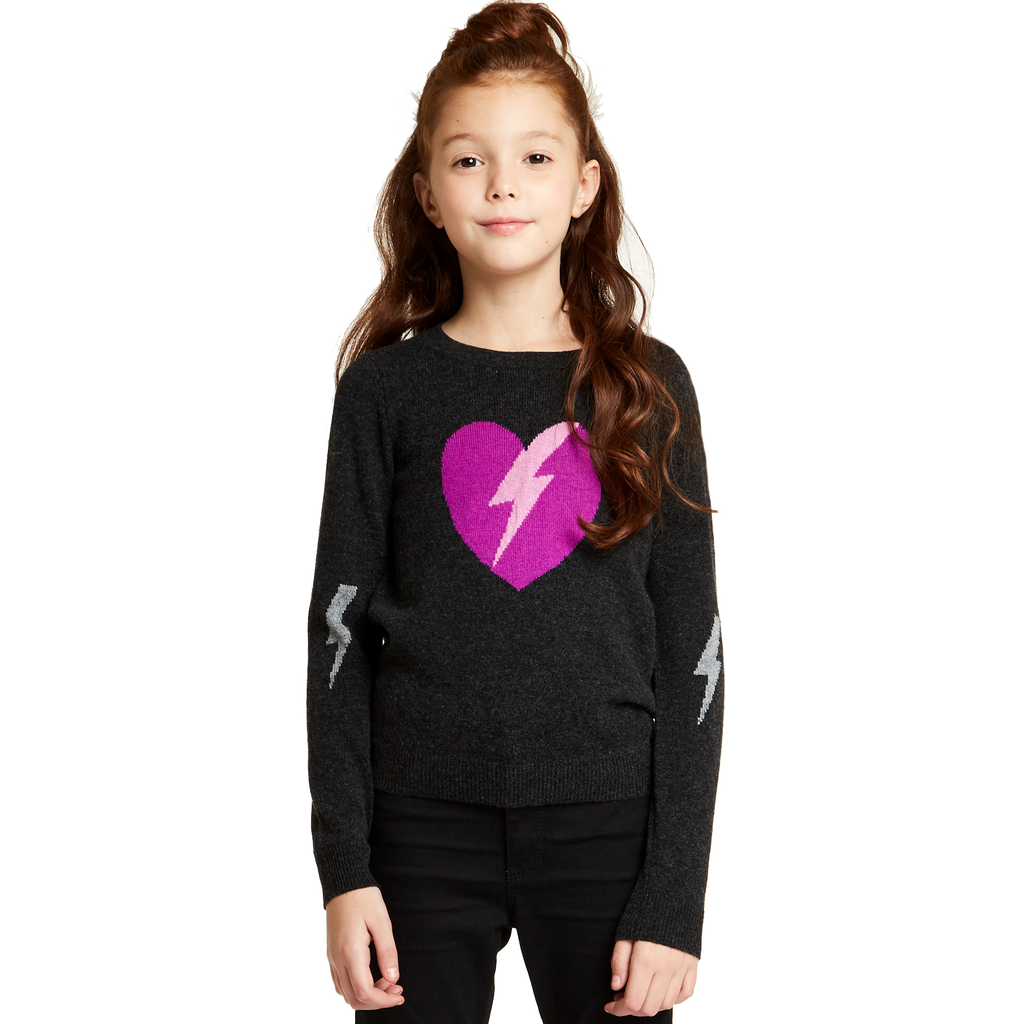 Autumn Cashmere Lightning Heart Sweater - Autumn Cashmere Kids