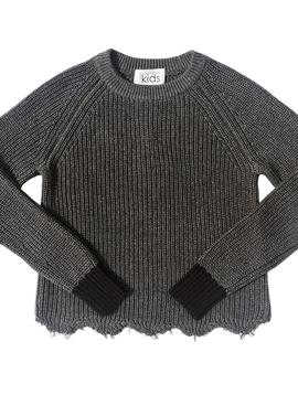 Autumn Cashmere Distressed Shaker Sweater - Autumn Cashmere Kids