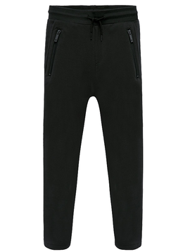 Mayoral Black Fleece Jogger Pant  w Zippers - Mayoral Boy Clothing