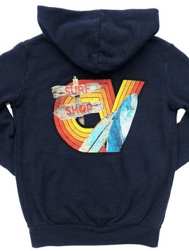 Californian Vintage Zip Hoody - Surf Wave - Californian Vintage Kids