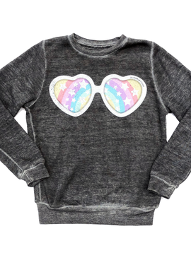 Californian Vintage Crew Fleece Sweatshirt - Rainbow - Californian Vintage Kids