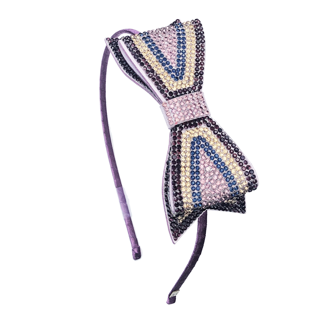 Bari Lynn Crystal Double Bow Headband - Bari Lynn Accessories