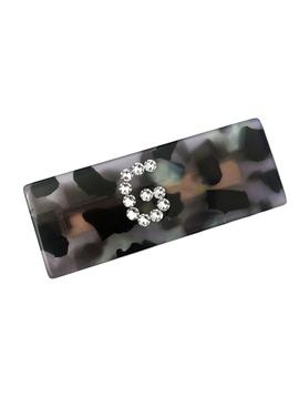 Bari Lynn Lucite Leopard Initial Clip - Bari Lynn Accessories