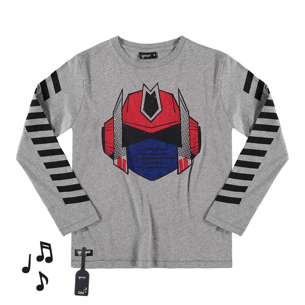 yporque Sound Tee - Robot Hero - yporque kids