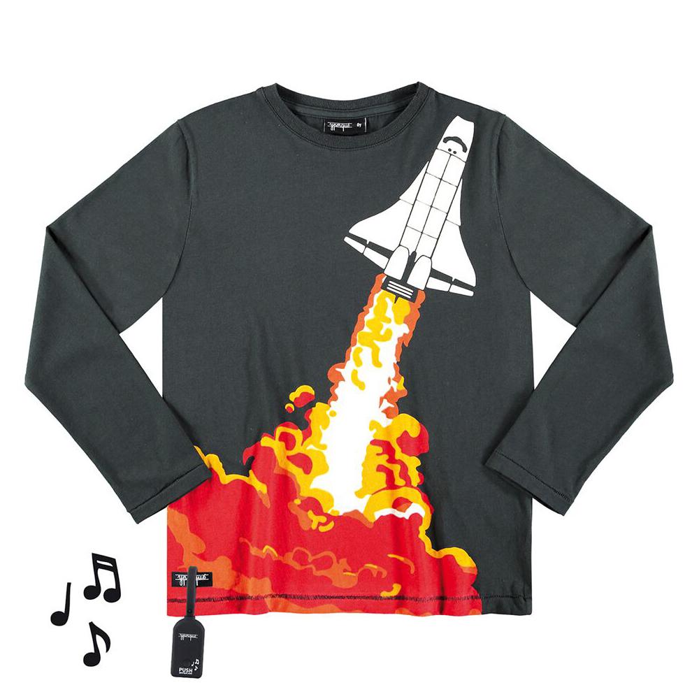 yporque Sound Tee - Space Rocket - yporque kids