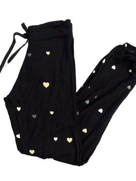 Global Love Hearts Black Sweatpant - Global Love