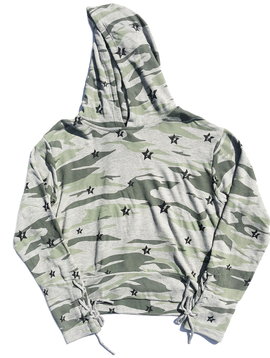 Global Love Camo Hoody with Stars - Global Love